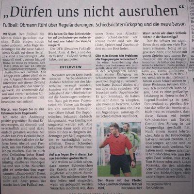 Bericht Marcel Rühl